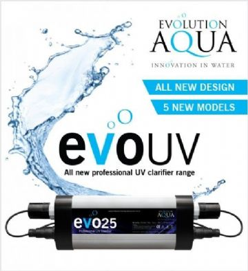 Evolution Aqua EvoUV Ultraviolet Unit 15w 25w 30w 55w Koi Pond UV Filter